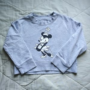 TALULA x Disney Minnie Grey Crop Sweater Aritzia